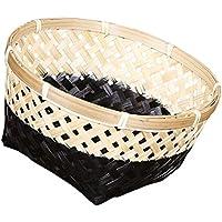 SM SunniMix 手作り 竹繊維 織り 収納用 バスケット エレガント 耐久性 全3サイズ  - #2