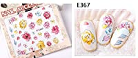 (ウォームガール)Warm Girl ネイルアート ネイル ステッカー 貼る 綺麗な花パターン 極薄 簡単