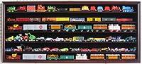 LARGE HO / RR Scale Train Hot wheels Display Case Cabinet Shadow Box-Mahogany Finish (HW05B-MA)