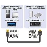 サンワサプライ USB3.0マイクロケーブル(A-MicroB) 1.8m ブラック KU30-AMC18BK 画像