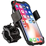 Bike Mount, Insten Bicycle Motorcycle MTB Bike Rack Handlebar Mount Phone Holder Cradle W/Secure Grip for iPhone X/XS/XS Max/XR/8 Plus/7 Plus/6S, Galaxy S9/S9+/S8/S8+/On5/S7 Edge/S7,LG V10, Black
