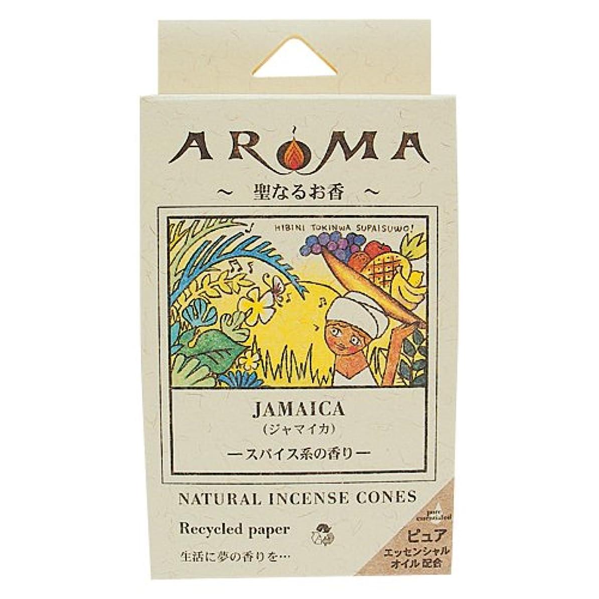 ブラウズシステム読むアロマ香 ジャマイカ 16粒(コーンタイプインセンス 1粒の燃焼時間約20分 スパイス系の香り)