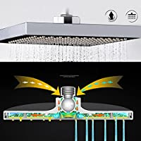 YULPING 8インチのバスルームの正方形のトップの降雨Pressurrizeシャワーヘッド 浴室用品
