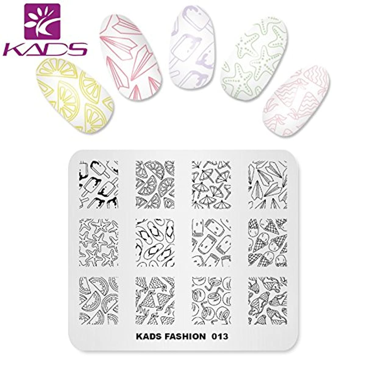 性能元に戻す設計図KADS ネイルスタンププレート ネイルステンシル ネイルイメージプレート ファッションスタイル … (FA013)