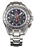 [ケンテックス] 腕時計 クロノグラフ ソーラー JSDFシリーズ ブルーインパルス 限定 S720M-04 メンズ シルバー