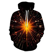 3Dスターデジタル印刷の愛好家は、スポーツフード付きのセーター緩い大きなサイズの男性と女性は新しいフード付きのジャケットを着用着用します (Color : 6, Size : S)