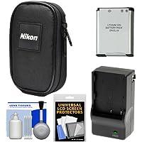 NikonデジタルカメラCoolpixナイロンキャリーケースen - el19バッテリー&充電器+アクセサリキットfor s32, s33, s3700, s7000, a300, w100