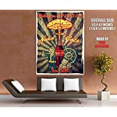 Nuka Cola Retro Ad Vault Boy Vintage Art Painting Fallout Nuka-Cola Advertising 63x47 Huge Giant Poster Print by DirectArtPrint [並行輸入品]