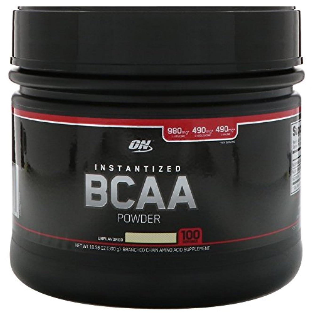 蜜教育寛大なOptimum Nutrition, インスタント化BCAAパウダー、無風味、10.58 oz (300 g)
