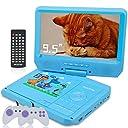 ポータブルDVDプレーヤー 子供 9.5インチ 車載DVDプレイヤー 英会話勉強 リージョンフリー 幼児教育 軽量 CPRM/USB/SDカード対応 メーカー保証一年(ブルー)
