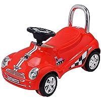 BeUniquetoday キッズ 乗馬 プッシュグライディング スクーター 車 クリスマス おもちゃ 子供 3 5歳 赤