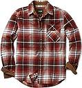 CQR ネルシャツ カジュアル 長袖 シャツ チェックシャツ 男女兼用 アウトドア 登山 ゴルフウェア アメカジ メンズ HOF110-BGD_M