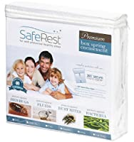 (Queen) - SafeRest Premium Box Spring Encasement - Lab Tested Bed Bug Proof, Dust Mite Proof and Waterproof - Breathable, Noiseless and Vinyl Free - Queen Size