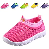 DESTURE Toddler Boys Water Shoes Lighteright Mesh Girl Running Sneakers Breathable Outdoor Beach