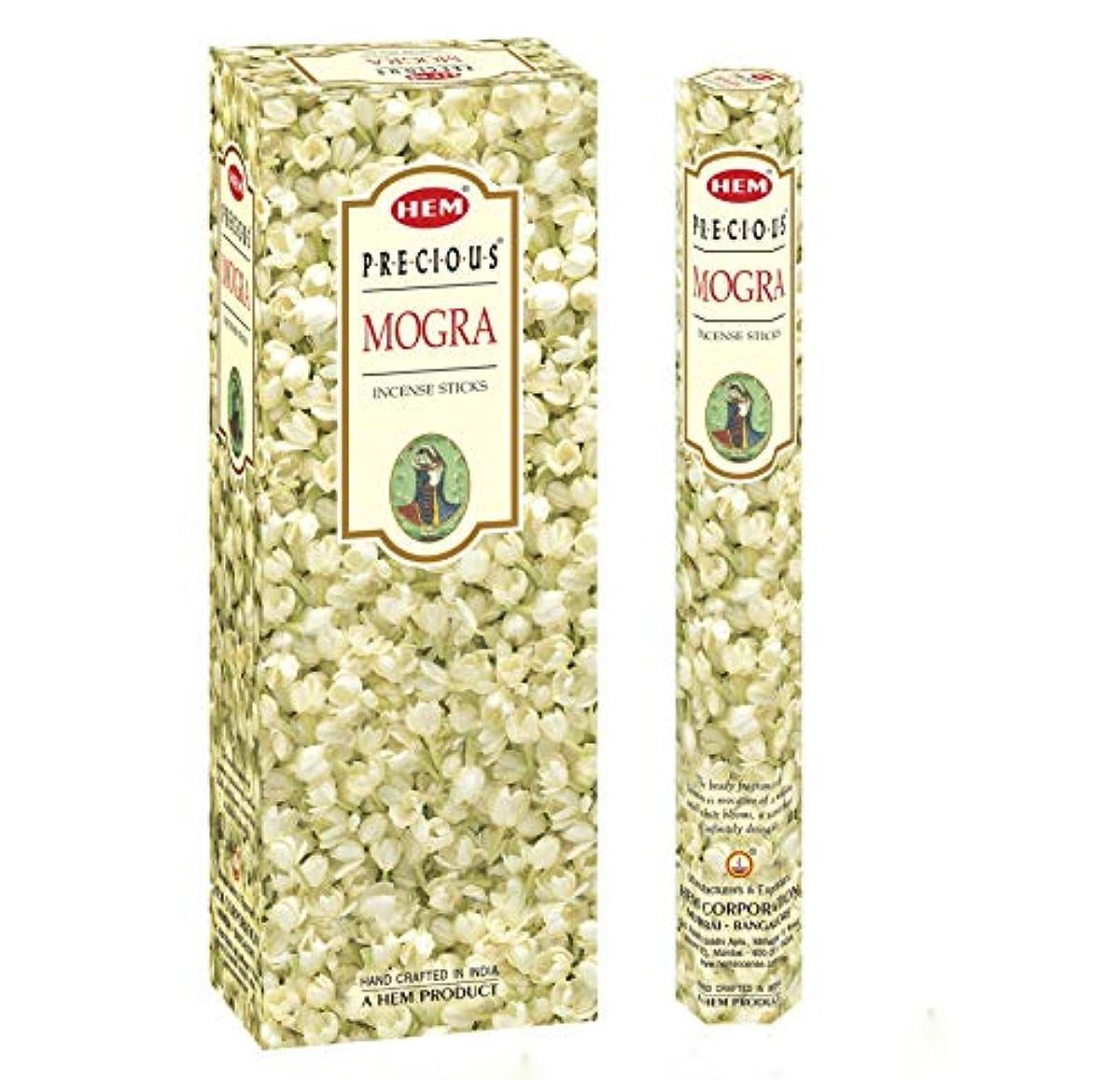 カロリー竜巻文字通りPrecious Mogra – ボックスof 6つ20スティックチューブ、120 Sticks合計 – 裾Incense