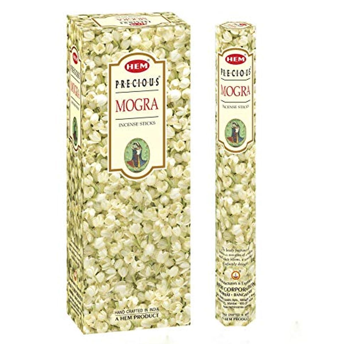 ニッケル悩む老人Precious Mogra – ボックスof 6つ20スティックチューブ、120 Sticks合計 – 裾Incense
