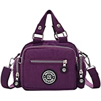 Wiwsi Lady Female Nylon Purse Tote Shopping Crossbody Bags Travel Handbag Small