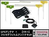 AVN-Z05iW 対応 GPSアンテナ + 地デジ / フルセグ フィルム アンテナ VR1 タイプ 4本 セット 【低価格高品質タイプ】