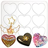 Puffy Heart Silicone Resin Mould 9-Cavity 2x1.7inch