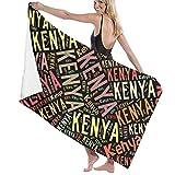 ビーチバスタオル バスタオル Kenya ケニア 速乾タオル 海水浴 旅行用タオル 多用途 おしゃれ One Size White