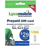 アメリカ・ハワイSIM lycamobile 30日LTE4GB 米国内通話・SMS無制限コミコミパック+YM SIMピンセット (日本語オリジナルマニュアル付)