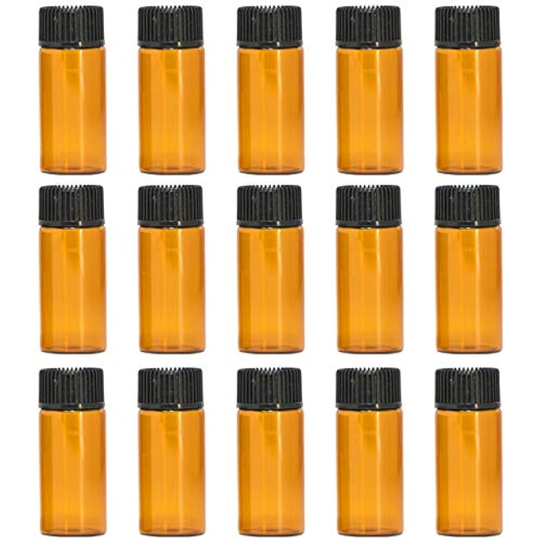 エアコンレンダー思春期のアロマオイル 精油 遮光瓶 遮光ビン ガラスボトル ガラス製 エッセンシャルオイル 保存用 保存容器詰め替え 茶色 ブラウン (5ml?15本セット))予備入り