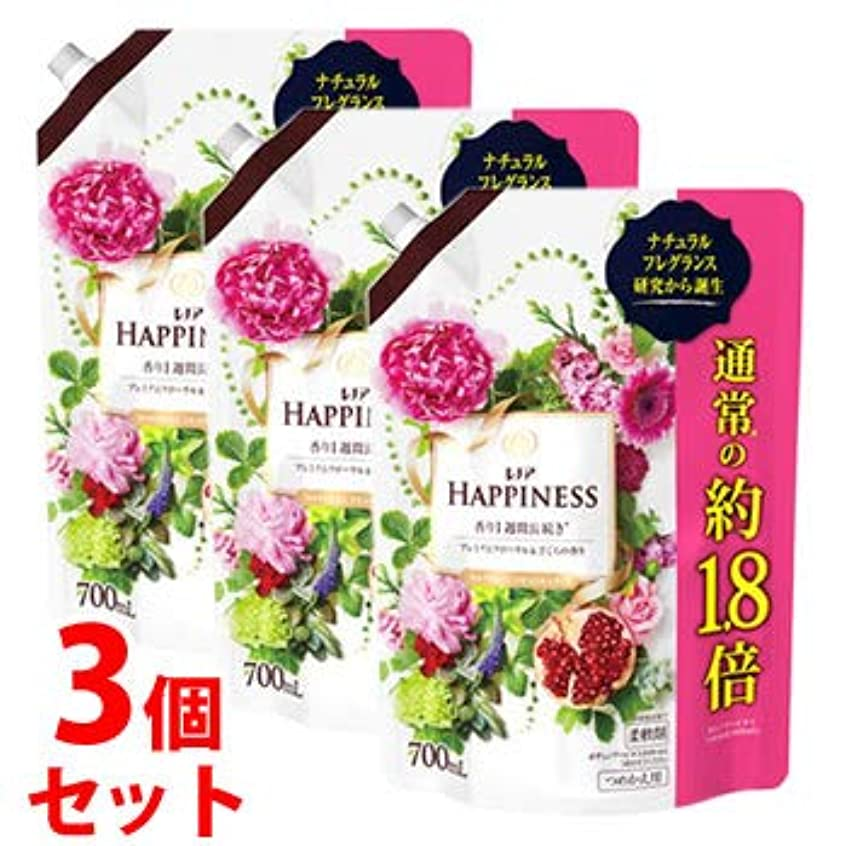情熱的ウッズどうやって《セット販売》 P&G レノア ハピネス ナチュラルフレグランス プレミアムフローラル&ざくろの香り つめかえ用 (700mL)×3個セット 詰め替え用 特大サイズ 柔軟剤