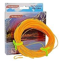 Proberos Fly Line with重量Forward Enhanced溶接ループフローティングPE Fly Fishing Lines複数色WF 2F-8F オレンジ