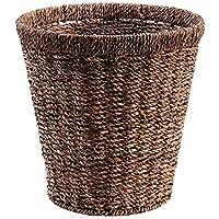 ラウンドラタンランドリーバスケット家庭用ポータブル汚れたハンパー服雑貨のストレージバスケット、29 * 20 * 29センチメートル (色 : B)
