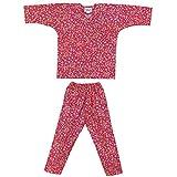 【お祭り用品・衣装】子供用鯉口シャツ・パンツセット ピンク 小桜 A1311 1-7号
