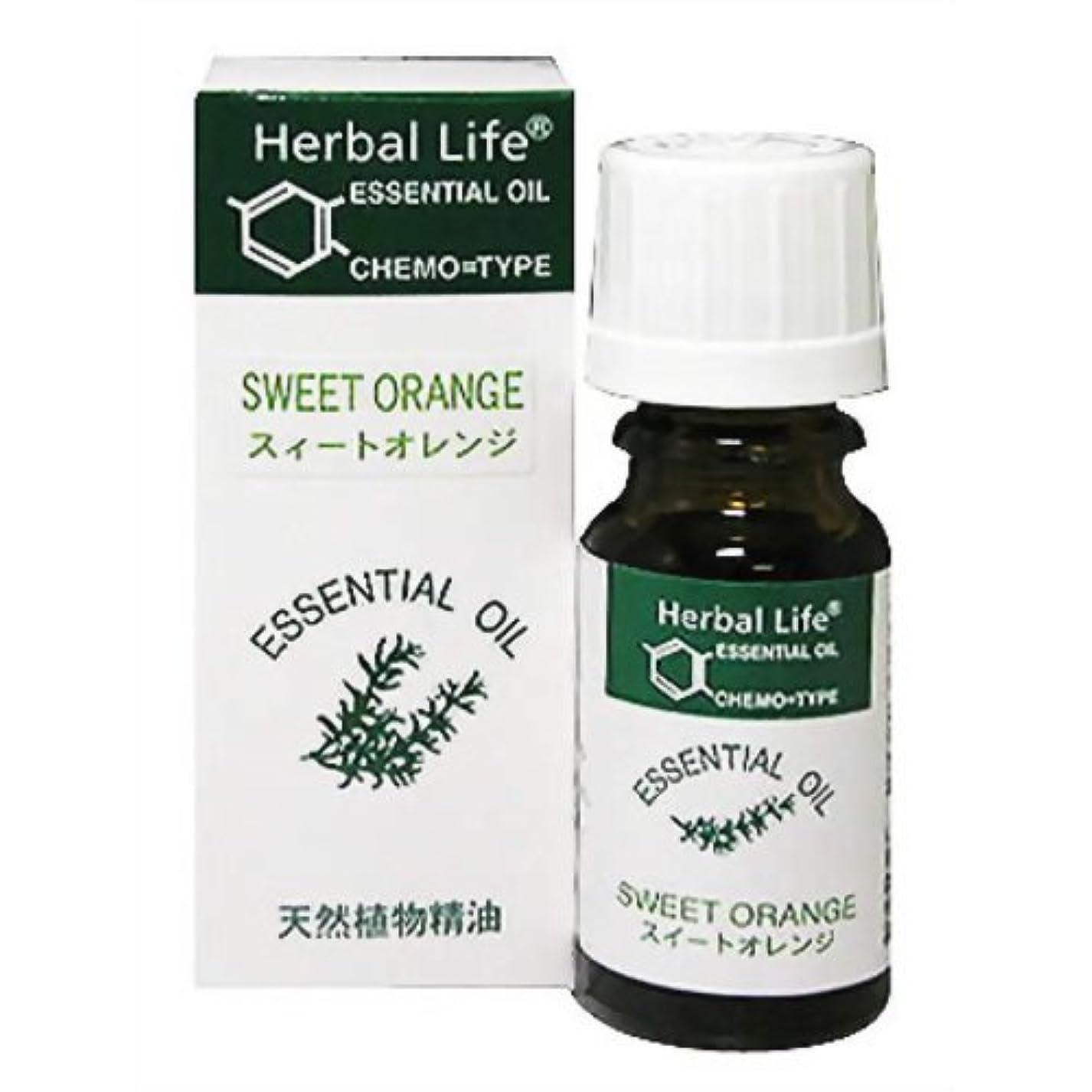 太字悪名高い本気生活の木 Herbal Life スィートオレンジ 10ml