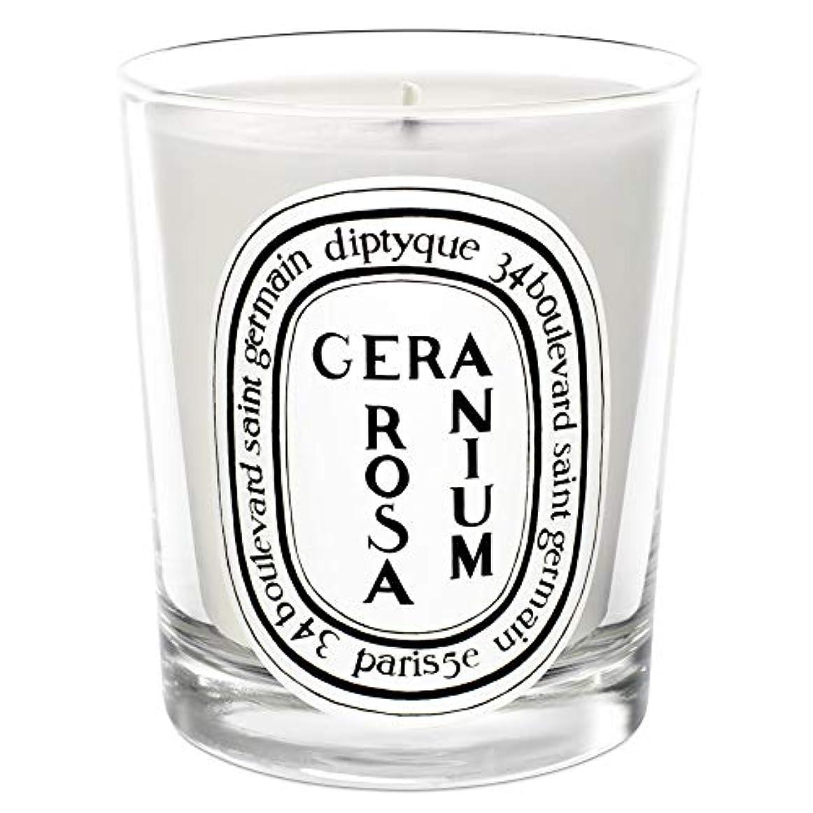 簡単に昆虫主観的[Diptyque] Diptyqueゼラニウムローザ香りのキャンドル190グラム - Diptyque Geranium Rosa Scented Candle 190g [並行輸入品]