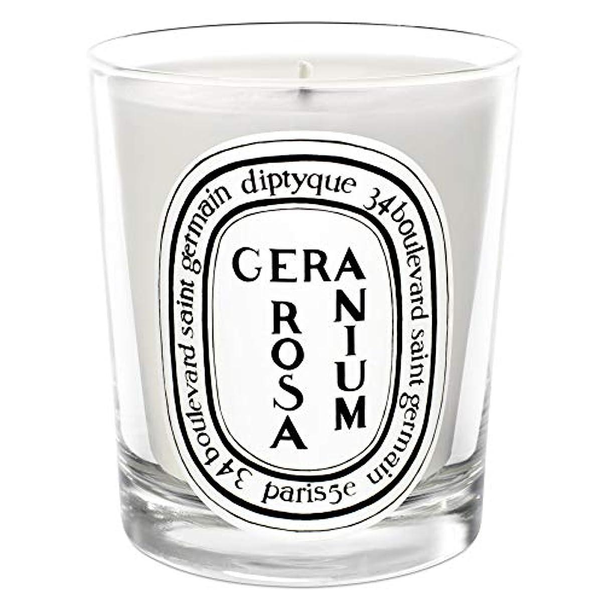 それからボーナス観点[Diptyque] Diptyqueゼラニウムローザ香りのキャンドル190グラム - Diptyque Geranium Rosa Scented Candle 190g [並行輸入品]
