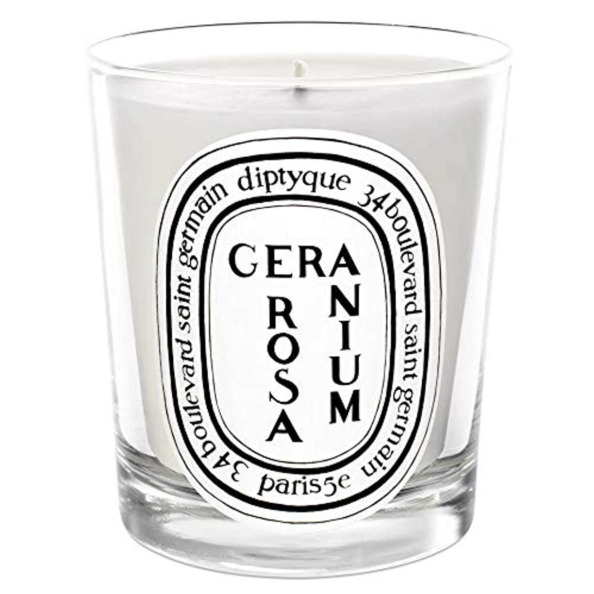 [Diptyque] Diptyqueゼラニウムローザ香りのキャンドル190グラム - Diptyque Geranium Rosa Scented Candle 190g [並行輸入品]
