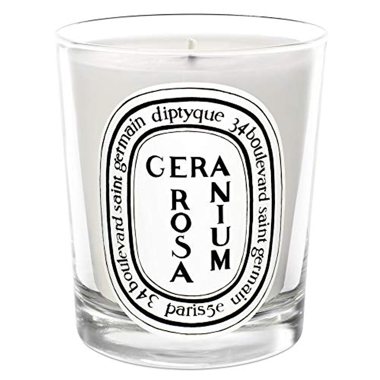 寂しいオート振幅[Diptyque] Diptyqueゼラニウムローザ香りのキャンドル190グラム - Diptyque Geranium Rosa Scented Candle 190g [並行輸入品]