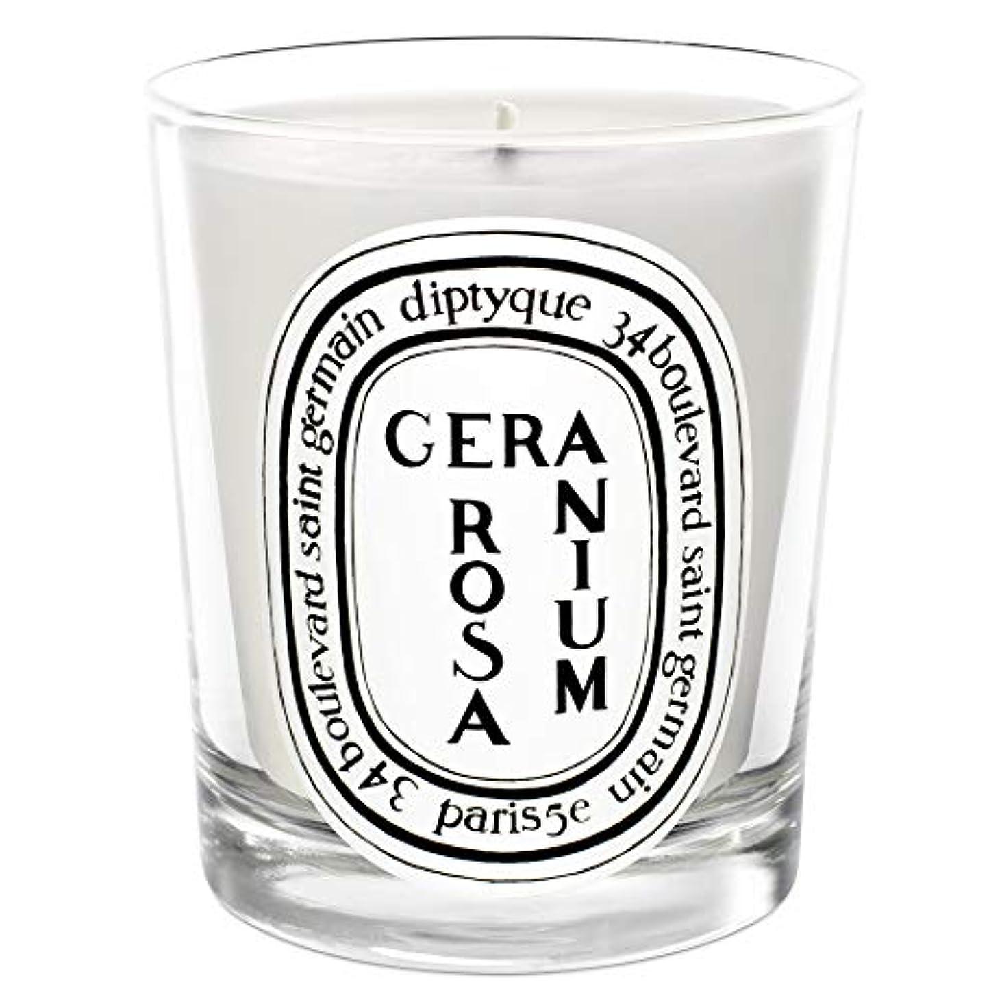 すべて熱狂的な移動[Diptyque] Diptyqueゼラニウムローザ香りのキャンドル190グラム - Diptyque Geranium Rosa Scented Candle 190g [並行輸入品]