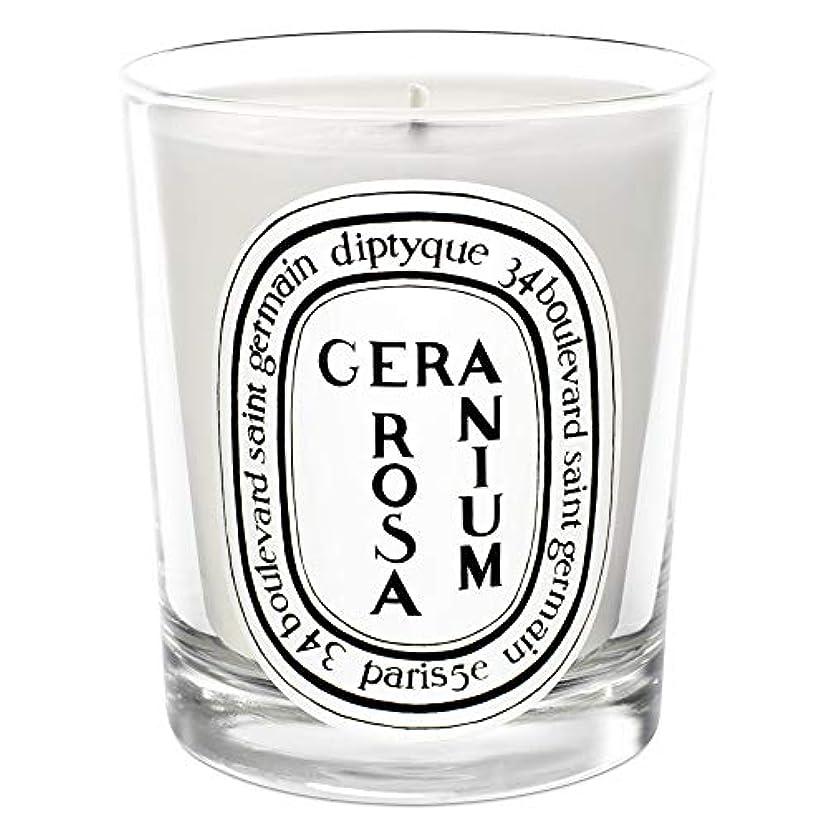 作物発動機配送[Diptyque] Diptyqueゼラニウムローザ香りのキャンドル190グラム - Diptyque Geranium Rosa Scented Candle 190g [並行輸入品]