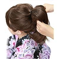 [ブライトララ] 毛たぼ ウィッグ カラートップ ヘアートップ すき毛 つけ毛 黒 茶 和装ウィッグ 着物 髪飾り 日本髪