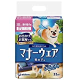 【1ケース納品】 ユニ・チャーム マナーウェア 男の子用 超小型犬用 52枚 ×8個入