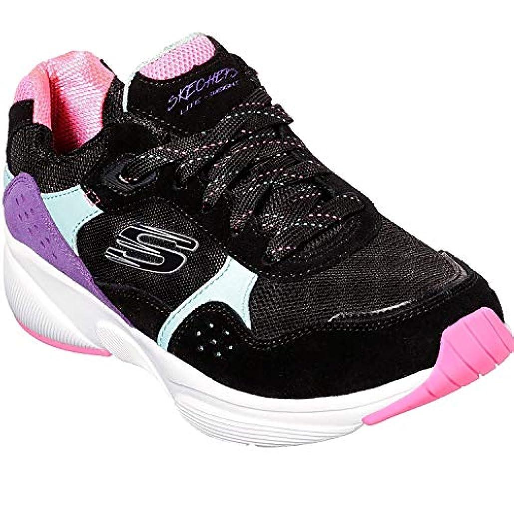 人里離れた安全フックSKECHERS(スケッチャーズ) レディース 女性用 シューズ 靴 スニーカー 運動靴 Meridian - No Worries - Black Multi [並行輸入品]