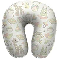 Merlin Quintina 動物 抱き枕 U字型クッション 首枕 ネッククッション 旅行ピロー360度快適な睡眠 子宮頸椎 保護 ポータブル