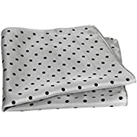 "Royal Silk Dot Pocket Square - 17"" Handkerchief - 12mm Silk Twill"
