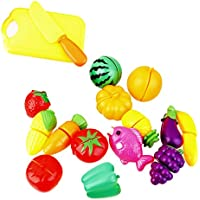 【ノーブランド 品】子供 ままごと?ごっこ遊び スライス 果物 野菜 おもちゃ 知育玩具 教育玩具 #B