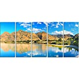 Wanaka Lake - L &Scape Photography Metal Wall Art - MT7229-60x28-5 Panels [並行輸入品]