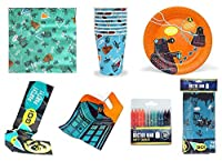Official BBC DOCTOR WHO - Complete Part Set - Paper Cups Plates Napkins Tablecloth Party Banner Loot Bags & Candles [並行輸入品]