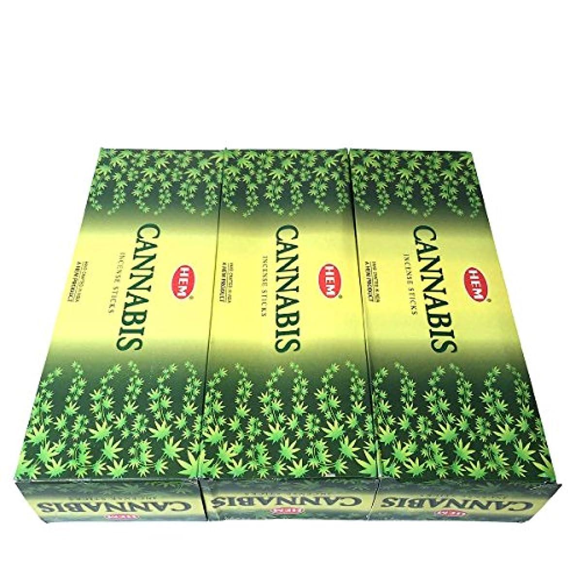 差別沿ってくしゃみカナビス香スティック 3BOX(18箱) /HEM CANNABIS/インセンス/インド香 お香 [並行輸入品]