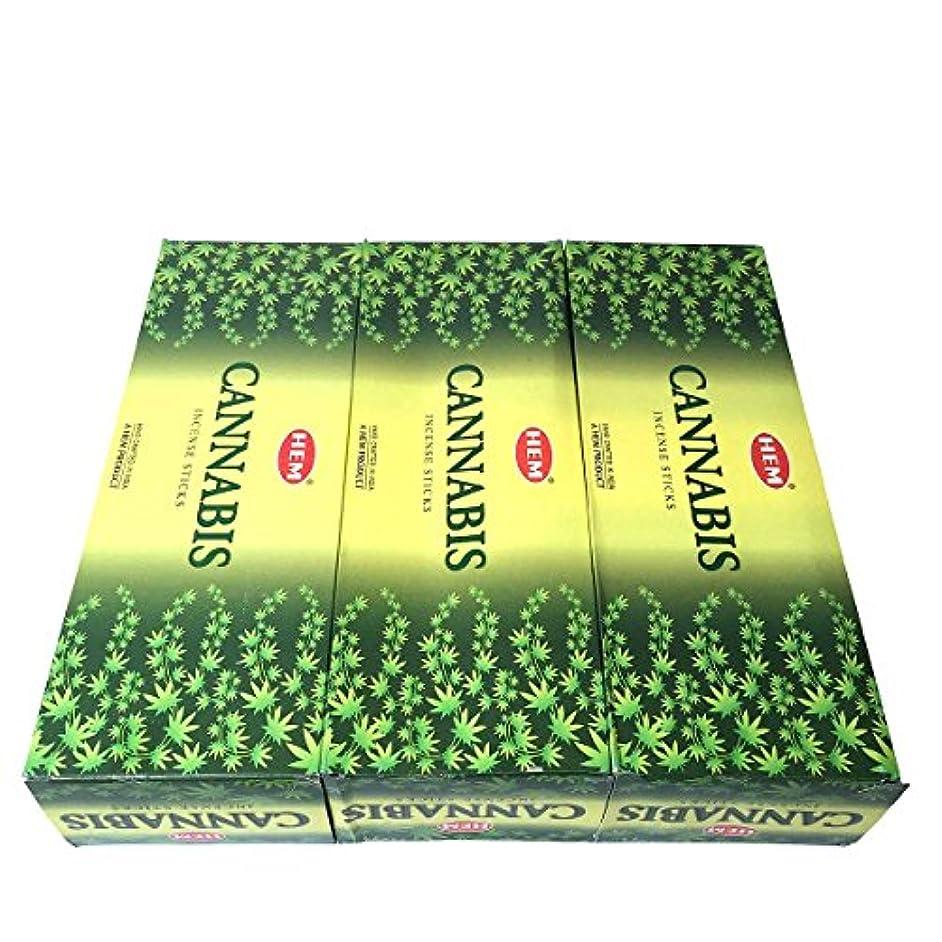 排他的コピーチューリップカナビス香スティック 3BOX(18箱) /HEM CANNABIS/インセンス/インド香 お香 [並行輸入品]