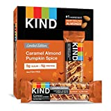 KIND Bars, Caramel Almond Pumpkin Spice, Gluten Free, 1.4 Ounce Bars, 12 Count (Packaging May Vary)