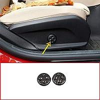 2pcs Carbon Fiber Car Seat Adjust Switch Button Cover Trim For Mercedes Benz GLC/CLS/E/C Class W205 W212 W213 Car Accessories