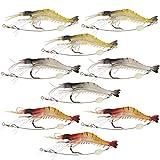Goture(ゴチュール)エビ ワーム 釣りルアー 夜釣り ソフト シュリンプワーム 海老ルアー 夜間発光 疑似餌 3.5インチ 6g 9個セット